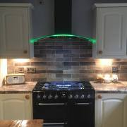 cda cooker hood with rim lighting