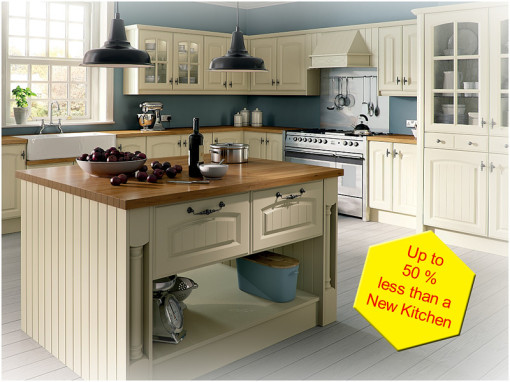 A kitchen refurbishment could save you up to 50% on the cost of buying a new kitchen, We are Northern Ireland's kitchen refurbishment specialists