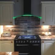 cda cooker hood with rim lighting